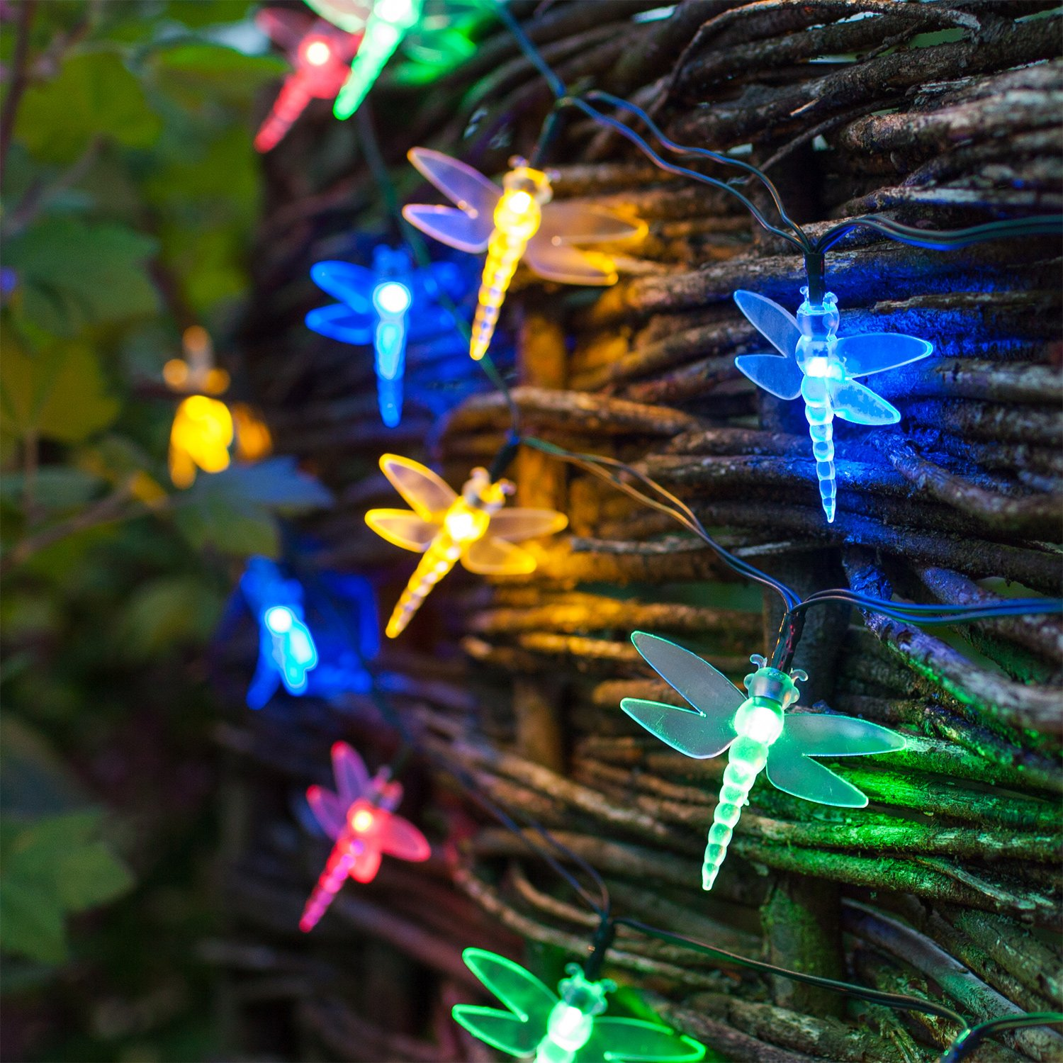 30 multi coloured led dragonfly solar garden fairy lights by 30 multi coloured led dragonfly solar garden fairy lights by lights4fun amazon garden outdoors mozeypictures Gallery