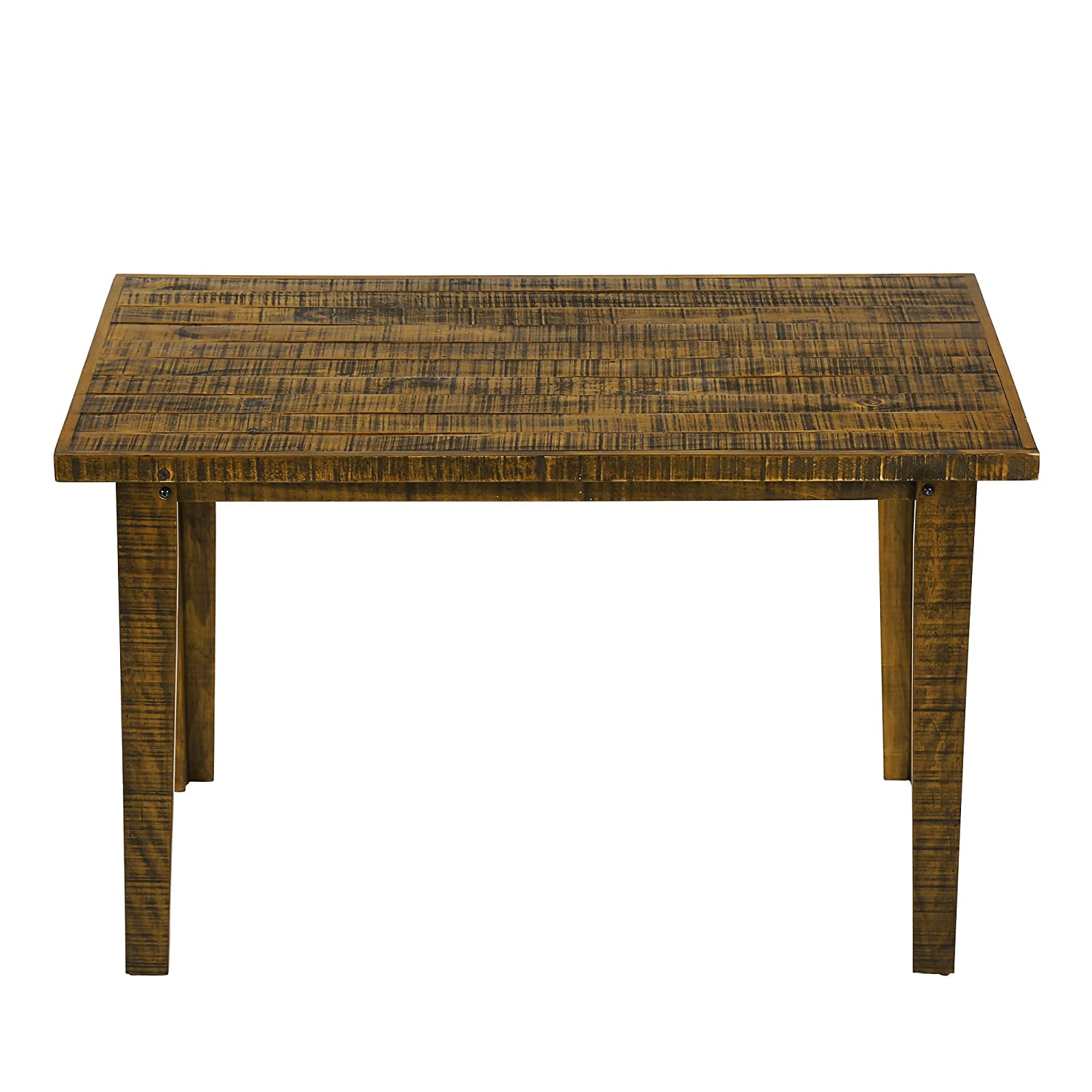 Ecos solid wood narrow dining table for small spaces