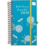 Diario agenda accademica settimanale 2017-2018 di Vita Dì per Dì Pocket. Agenda piccola e sottile con organizer settimanale. Inizia da metà Agosto '17 e dura fino a Dicembre '18.
