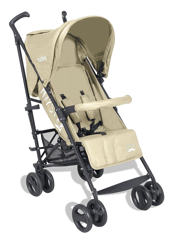 Asalvo Hipster - Silla de paseo plegable para bebés, color beige arena