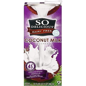 So Delicious Dairy-Free Unsweetened Vanilla Coconut Milk