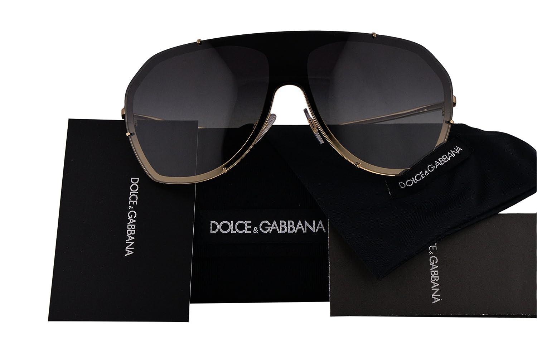 f89f2594fce6 Dolce   Gabbana Authentic Sunglasses DG2162 Black Gold w Grey Gradient Lens  028G DG 2162 (137mm)  Amazon.co.uk  Clothing