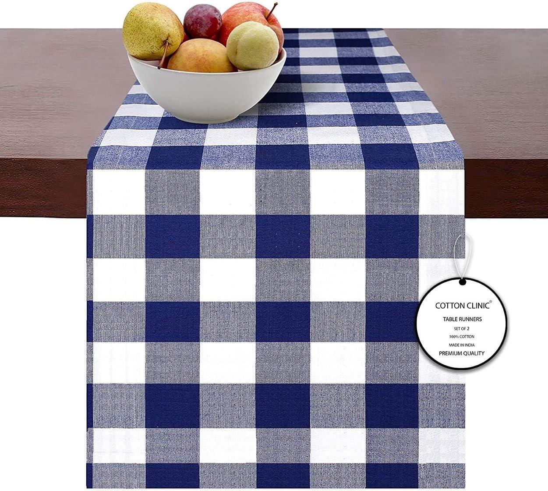 Lavable en machine 50 x 50 cm Bleu Blanc Clinique du coton Lot de 12 Serviettes de Table Coton Serviettes de Table Mariage Vichy Serviettes de Table tissu