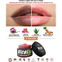 Bella Vita Organic NicoLips Scrub Gel Balm for Lightening and Brightening Dark Lips (20 Gms)