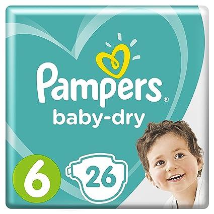 Pampers Baby-Dry Windeln, Größe 6 (13-18 kg), 1er Pack (1 x 26 Stück)