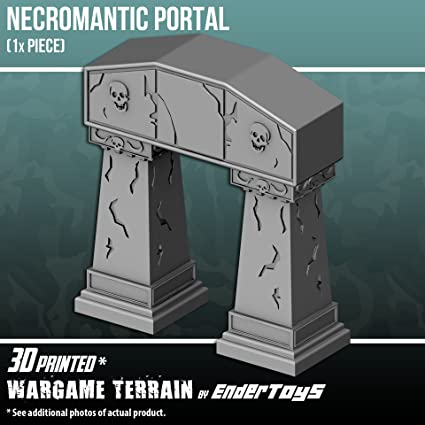 graphic about 3d Printable Terrain titled EnderToys Necromantic Portal, Terrain Landscapes for Tabletop 28mm Miniatures Wargame, 3D Published and Paintable