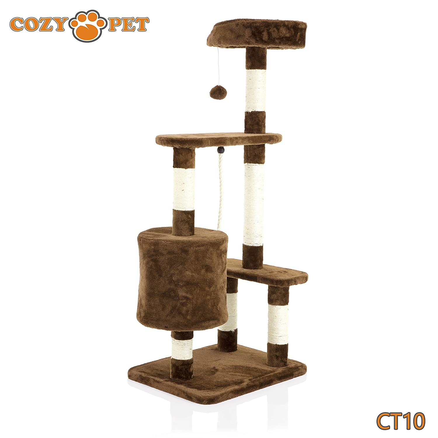 We do not ship to the Channel Islands or The Isles of Scilly. COZY PET Deluxe Multi Level Cat Tree Scratcher Activity Centre Scratching Post Toys with Heavy Duty Sisal Cat Trees in Grey CT10-Grey.