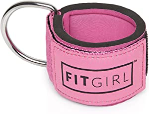 FITGIRL The Best Ankle Strap for Cable Machines and Resistance Bands, Work Out Cuff Attachment for Home & Gym, Booty Workouts - Kickbacks, Leg Extensions, Hip Abductors, for Women Only