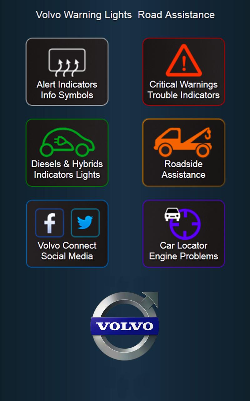 Amazon com: App for Volvo Cars - Volvo Warning Lights