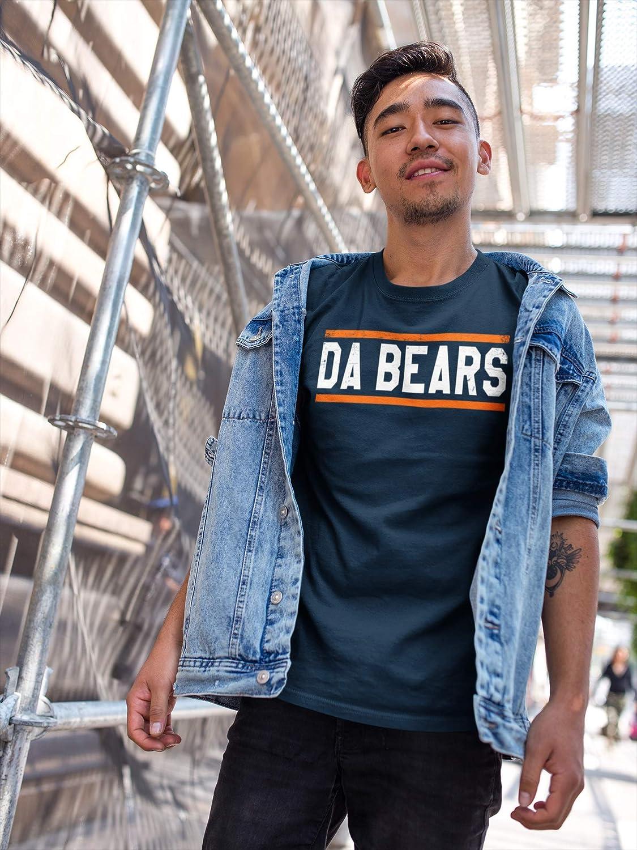 Flagtee Bears Football Bear T-Shirt 85 Blue and Orange Team