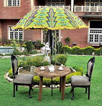 Green Color Garden Umbrella India 52 X 72 Inches