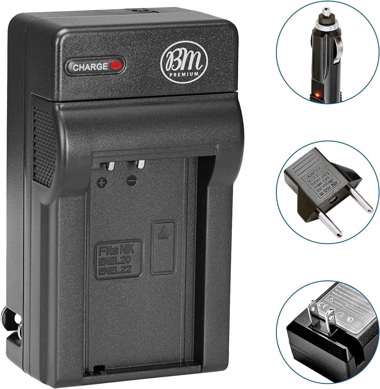 EN-EL20A Battery Charger for Nikon Coolpix P950 1 J1 P1000 DL24-500 More!! 1 J3 1 J2 1 V3 Digital Camera 1 S1 Coolpix A BM Premium EN-EL20