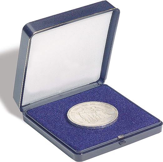 Leuchtturm 305877 Estuche Azul para 1 Moneda de hasta 45 mm Ø: Amazon.es: Juguetes y juegos