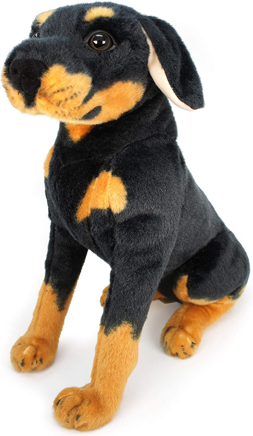 Rodolf The Rottweiler - 13 Inch Large Dog Stuffed Animal Plush - by Tiger Tale Toys