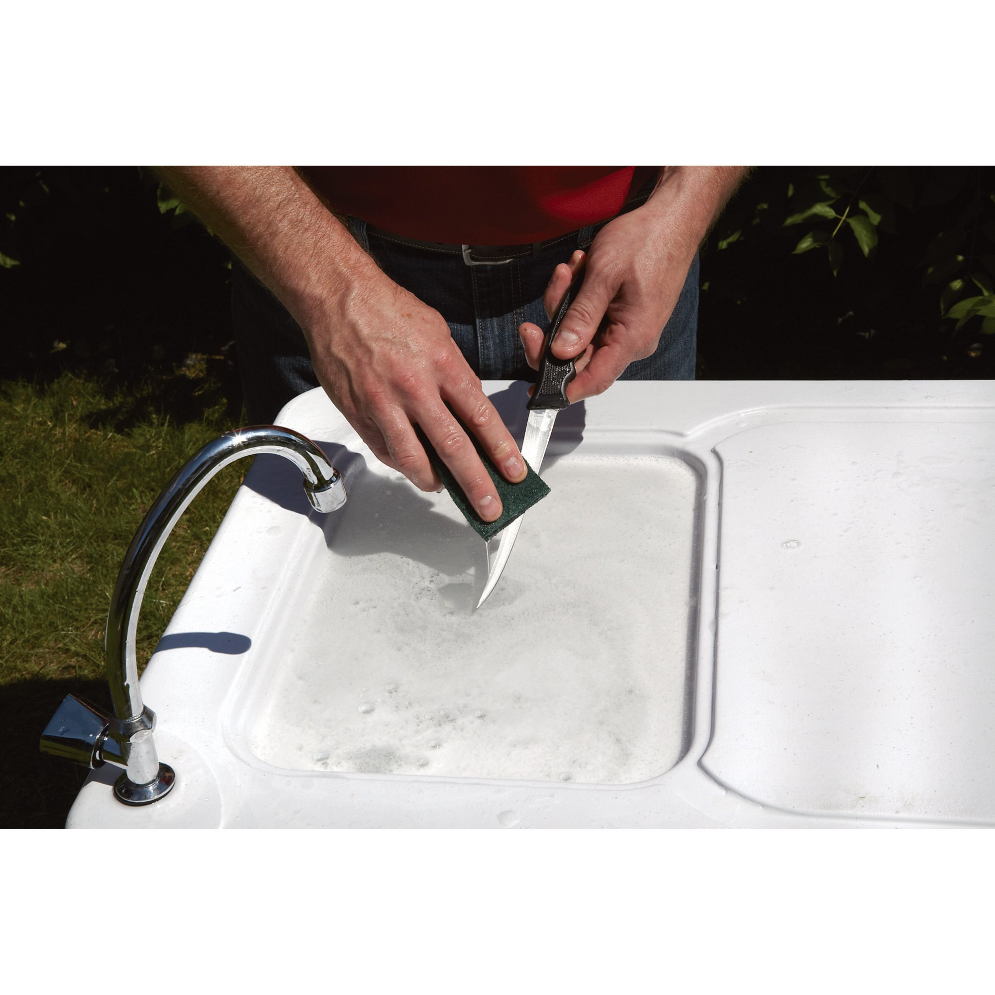 Kotulas Fish Cleaning Camp Table with Faucet by Kotulas