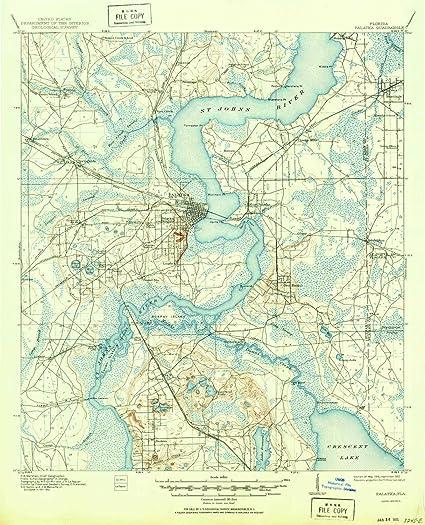 Palatka Florida Map.Amazon Com Yellowmaps Palatka Fl Topo Map 1 62500 Scale 15 X 15