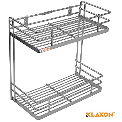 Klaxon Kitchen Rack - Wall Mounted Stainless Steel Kitchen Double ...