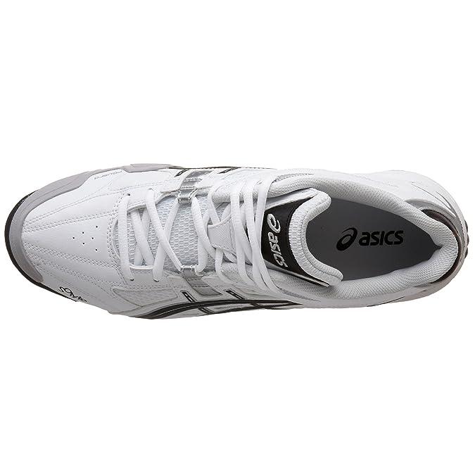 e7fa8826b4 Amazon.com: ASICS Men's Gel-V Cut MT Field Shoe,White/Black/Silver,8.5 D  US: Shoes