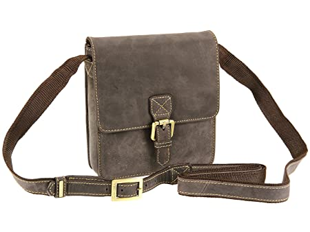 2536e5bcd Image Unavailable. Image not available for. Colour: Visconti Distressed Hunter  Leather Small Messenger Across Body Bag - Roca 18722 (Oil Brown)