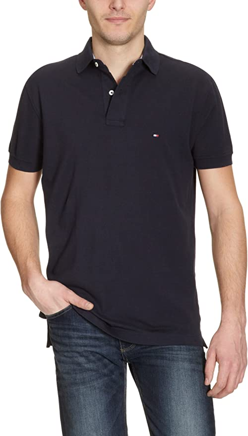 Tommy Hilfiger Core/New Tommy Knit S/SL Polo, Azul (403 Midnight ...