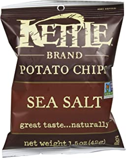 product image for Kettle Foods Sea Salt Potato Chips, 1.5 Ounce - 24 per case.
