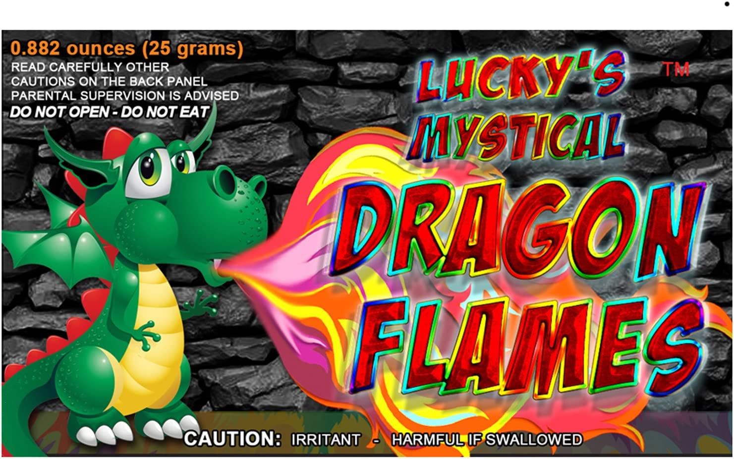 Mystical Fire Dragon Flames Flame Colorant Vibrant Long-Lasting Pulsating Flame Color Changer for Indoor or Outdoor Use 0.882 oz Packets 6 Pack