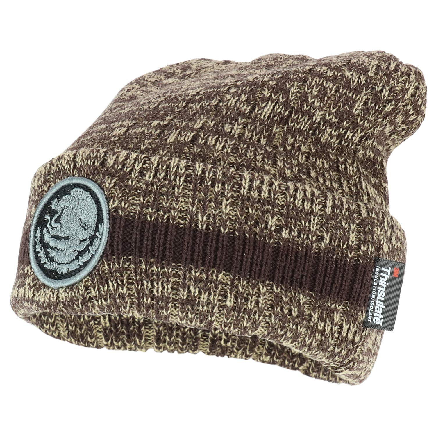 Trendy Apparel Shop Mexico Coat of Arms Embroidered 3M Thinsulate Cuff Beanie