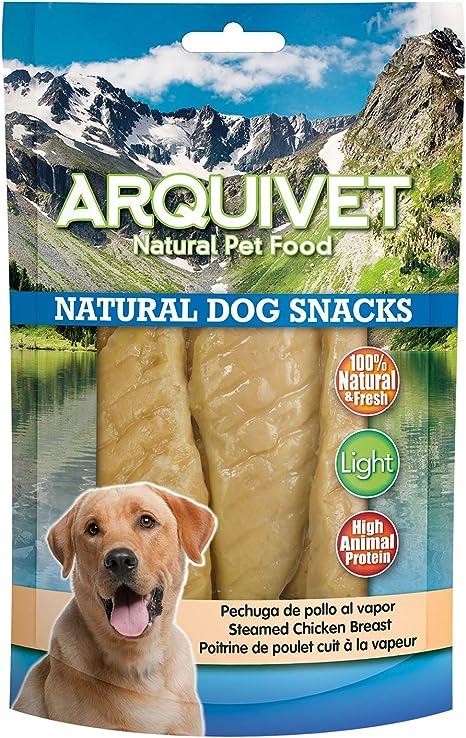 Arquivet Natural Dog Snacks - Pechuga de pollo al vapor - Snacks perros - 100 g