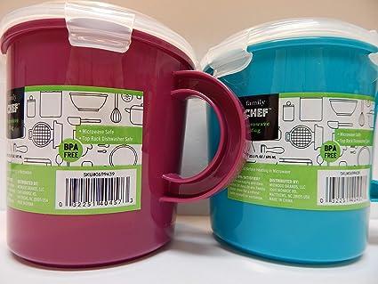 Amazon.com: Family Chef - Juego de tazas de sopa para ...