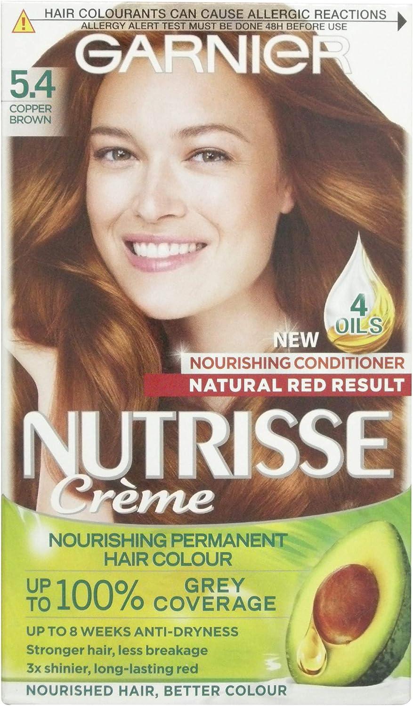 Garnier Nutrisse tinte crema 5,4 caramelo/cobre marrón