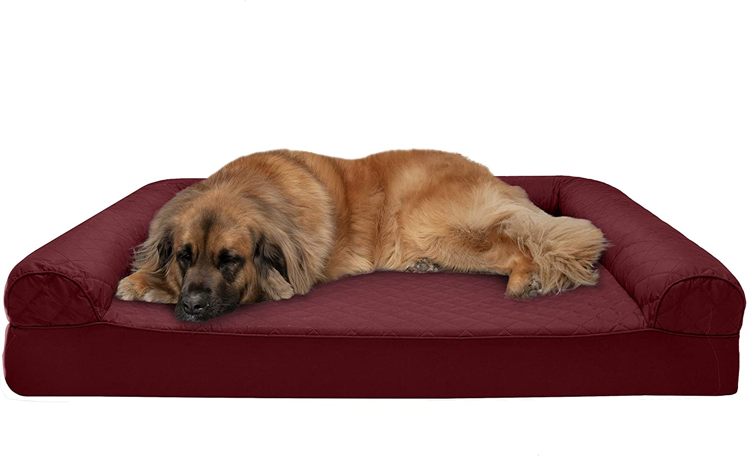 Furhaven - Orthopedic Sofa-Style Traditional Living Room Couch Dog Bed - Available in Multiple Colors & Styles