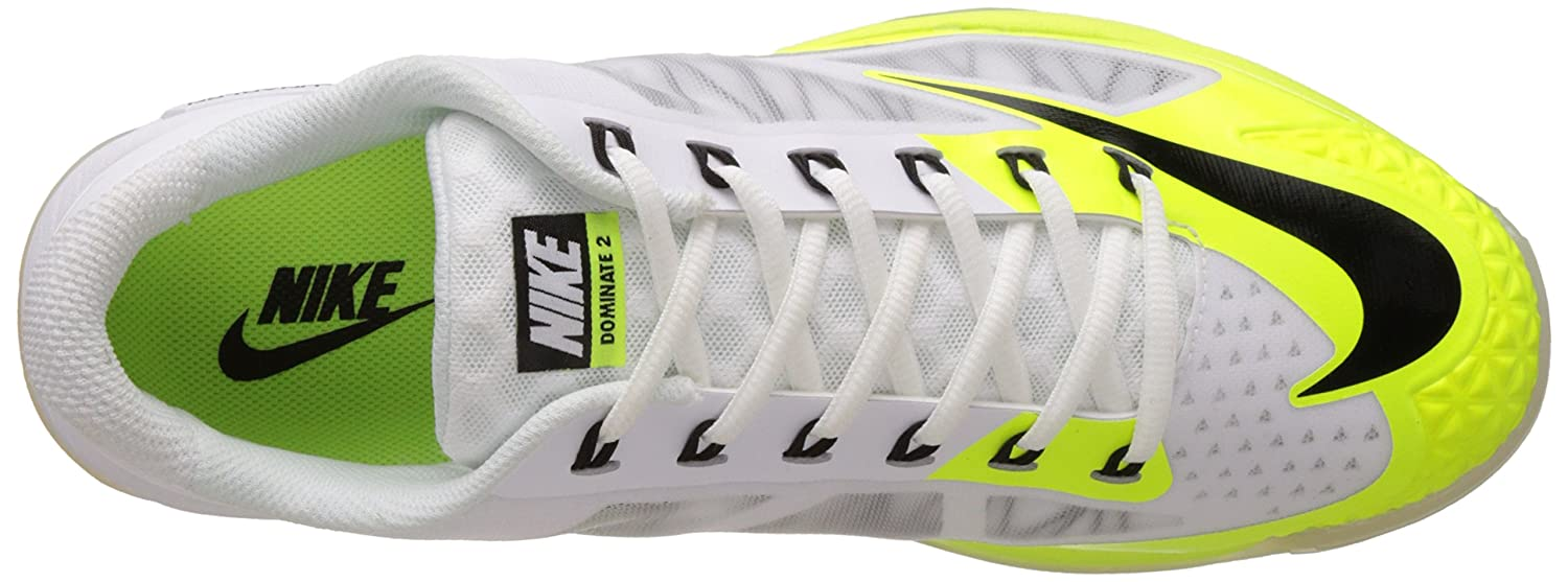 premium selection 6a828 8d0a0 ... NIKE Men s Lunar Dominate 2 White, Black, Volt Cricket Shoes -8 UK .