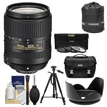 【クリックでお店のこの商品のページへ】Nikon 18???300?mm f / 3.5???6.3?G ED VR DX af-s nikkor-zoomレンズとケース+三脚+ 3?UV / CPL / nd8フィルタ+フード+キットfor DSLRカメラ