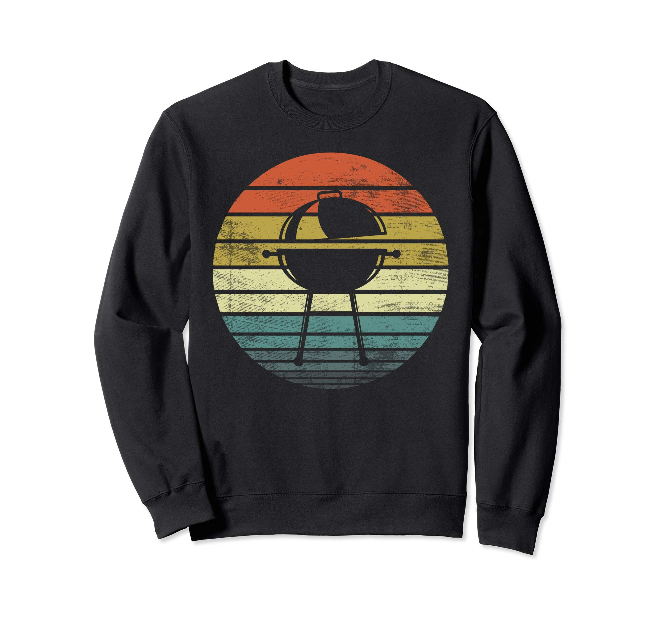 Funny Retro Sunset Barbecue BBQ Grilling Cooking Grill Gifts Sweatshirt by Grill BBQ Barbecue Grilling Apparel