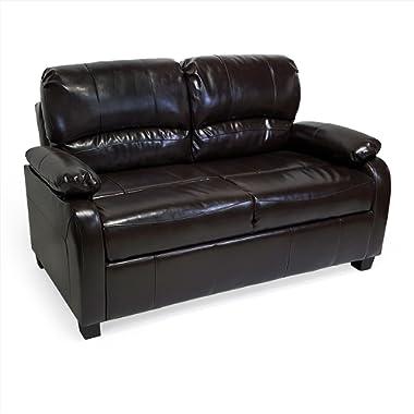 RecPro Charles 60  Tri Fold Hide A Bed Sofa w/Arms RV Espresso