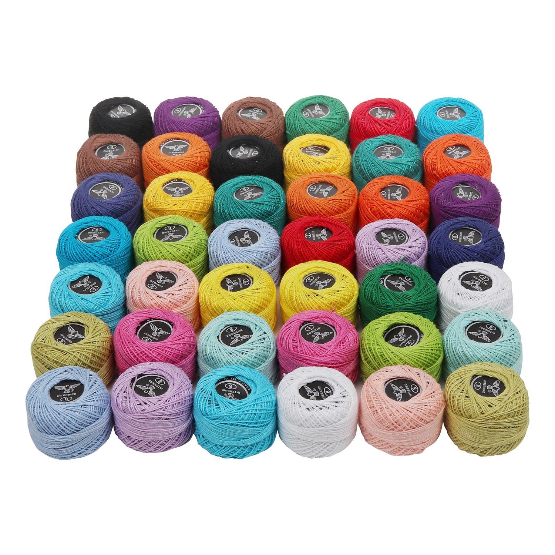 Crochet Threads 42 Pcs Knitting Yarn Assorted Rainbow Colors