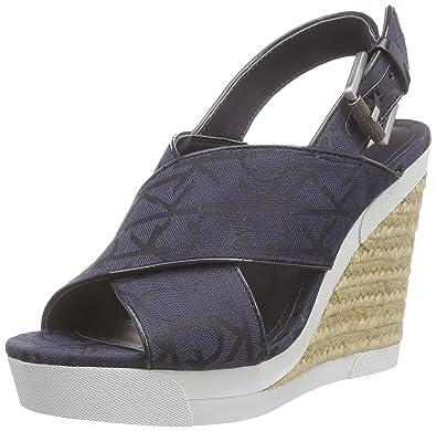 the latest 83b8e dfa86 Calvin Klein Jeans ELAINE CK LOGO JACQUARD/PATENT, Damen ...