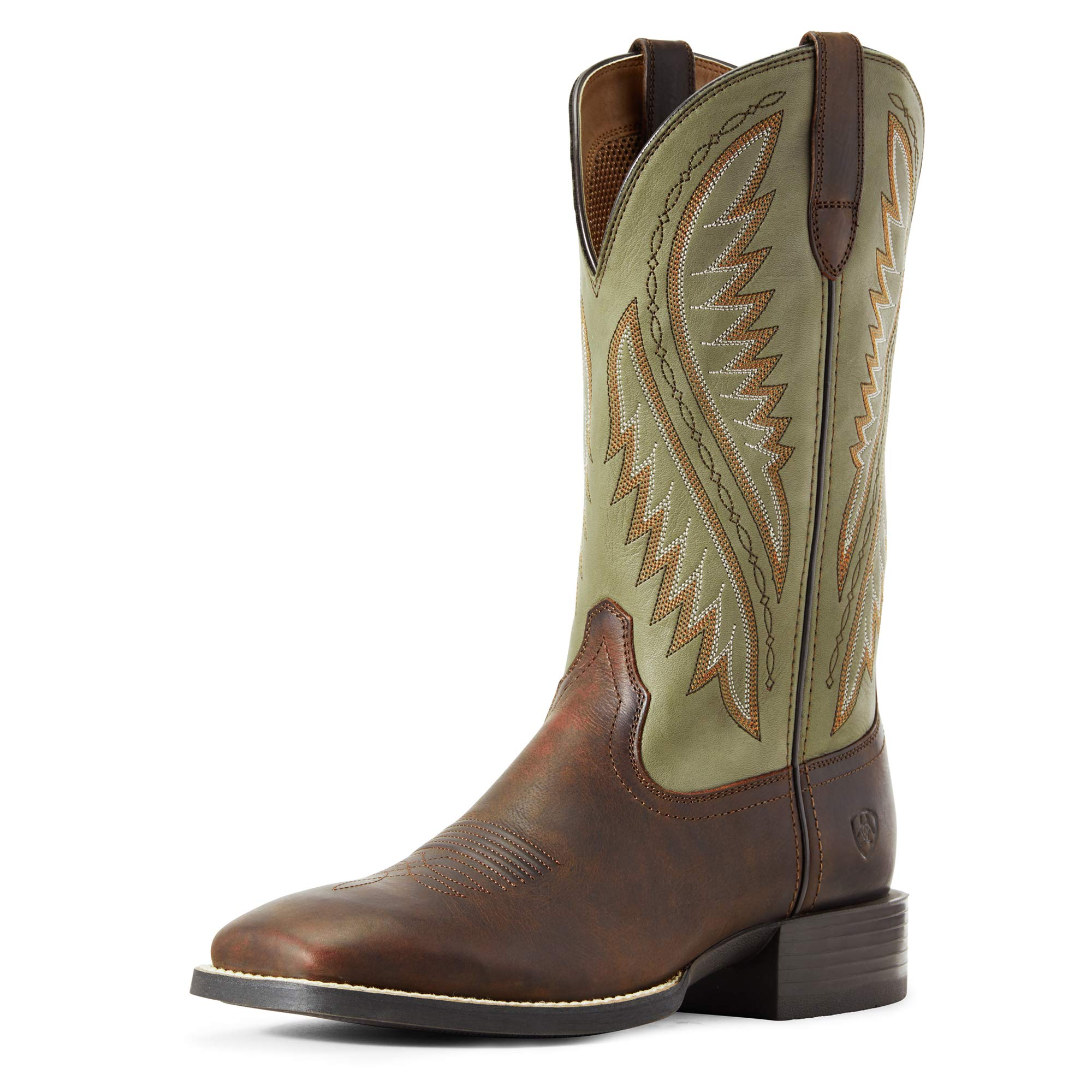 ARIAT Men's Sport Stonewall Western Boot Barley Brown/Olive Green Size 9 D/Medium Us by ARIAT