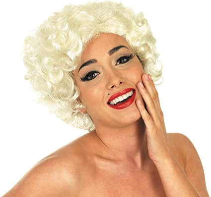 Ladies 50s Monroe Wig Rockabilly Rock n Roll 50s Fancy Dress Cosplay   Amazon.co.uk  Clothing 2b9cd898a2