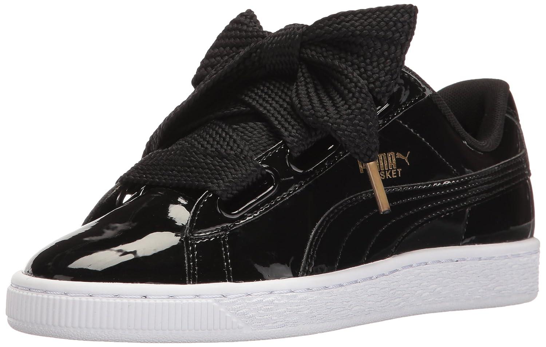 PUMA Women's Basket Heart Patent WN's Fashion Sneaker B01J5NSO8M 6 B(M) US|Puma Black-puma Black
