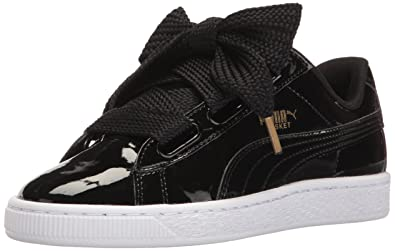 Womens Basket Heart Ns Trainers, Black Puma