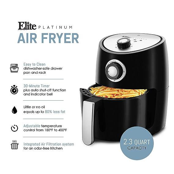 Amazon.com: Elite Platinum EAF-801 - Freidora de aire ...