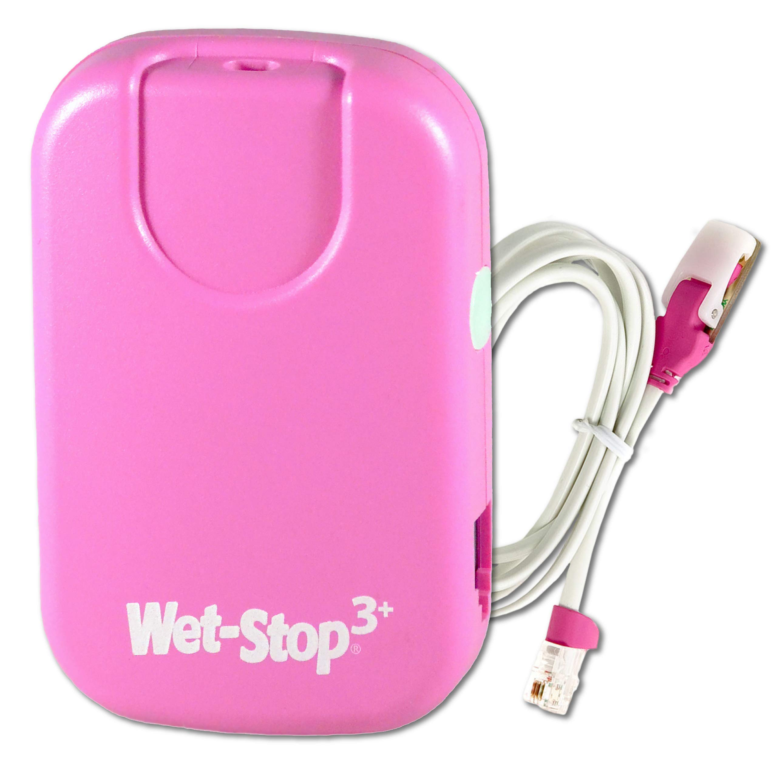 Wet-Stop 3 Pink Bedwetting Enuresis Alarm with Loud Sound and Strong Vibration for Boys or Girls, Proven Solutions for Bedwetters