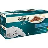 Gourmet Perle Katzenfutter Erlesene Streifen (mit Huhn, Rind, Lachs, Kaninchen) 60 x 85 g, 1er Pack (1 x 5,1 kg)