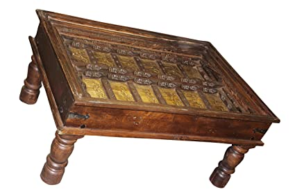 Mogul Interior Antique Arabic Calligraphy Indian Table Hand Carved Unique  Style Luxury Design Vintage Furniture Home