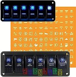 Laser Rocker Switch Bright Light Powersports 3 Position -12 Volt orange HEADLIGHTS Universal Off//On//On