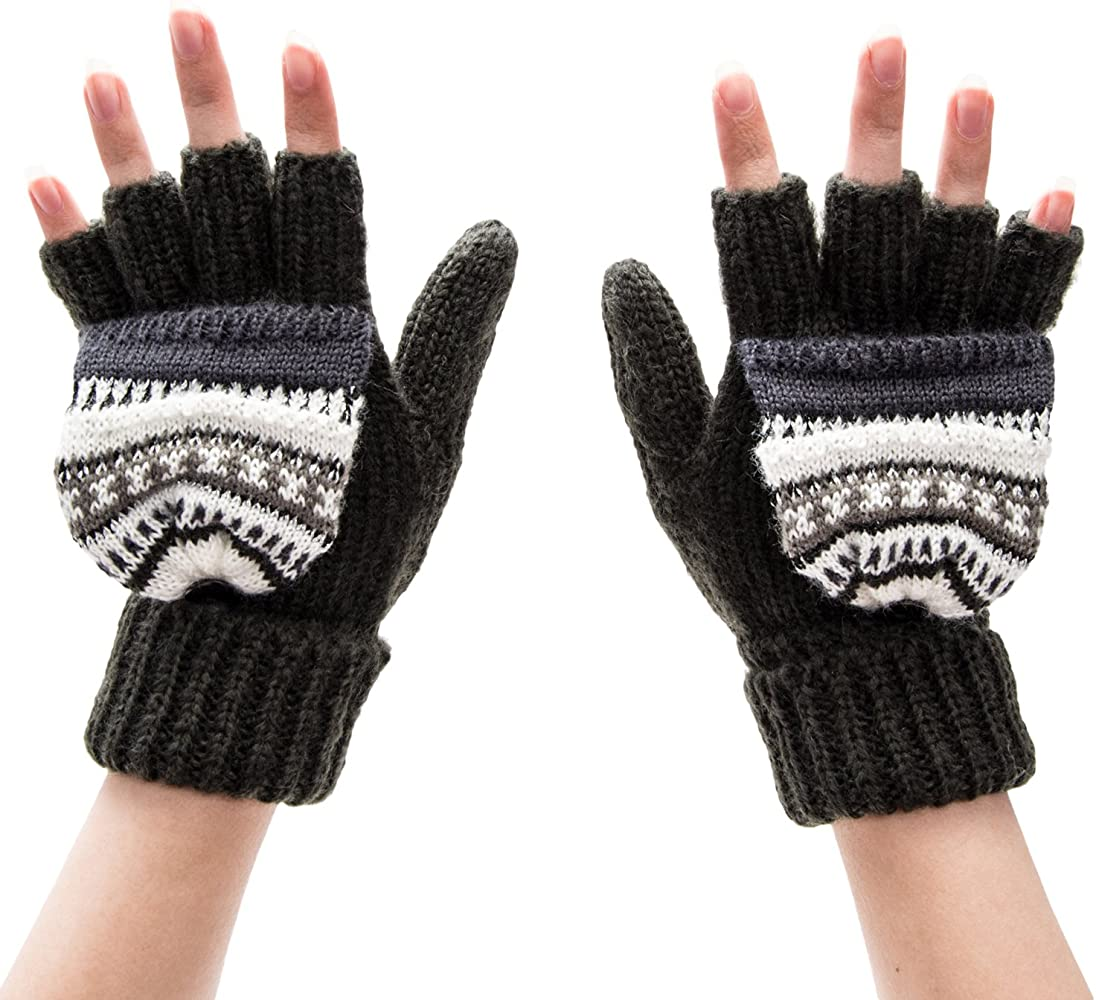ffe64135a NYA Gloves (Black Fairisle Sherpa Lined) at Amazon Women's Clothing ...