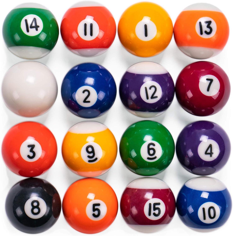 Mini bolas de billar | 1.5 pulgadas bolas para mesa y mesas de billar en miniatura independiente | bolas de resina real actúan como bolas de tamaño completo: Amazon ...