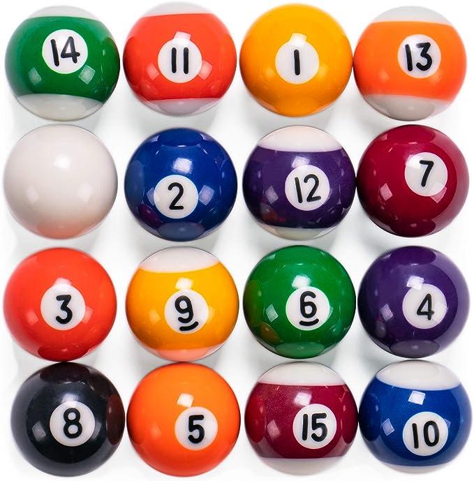 Mini bolas de billar   1.5 pulgadas bolas para mesa y mesas de billar en miniatura independiente   bolas de resina real actúan como bolas de tamaño completo: Amazon.es: Juguetes y juegos