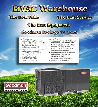 goodman 14 seer heat pump. goodman 2 ton 14 seer package heat pump system gph1424h41 seer
